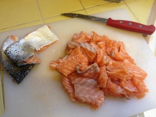chopped salmon
