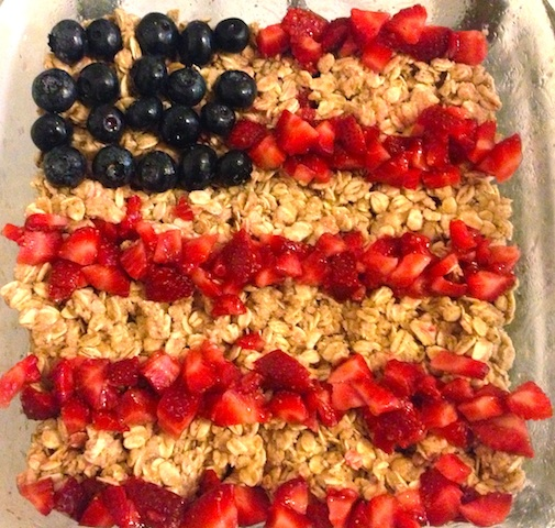 Healthy Blueberry Strawberry Crisp (4th of July)