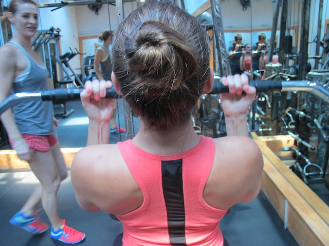reverse grip lateral pull down