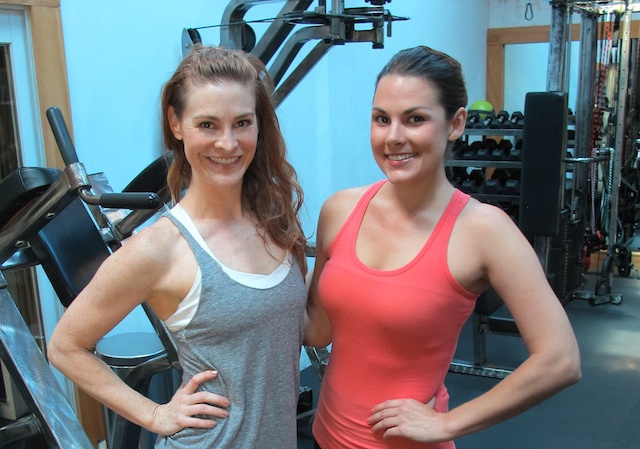 whitney english and holly perkins, gym on nemo