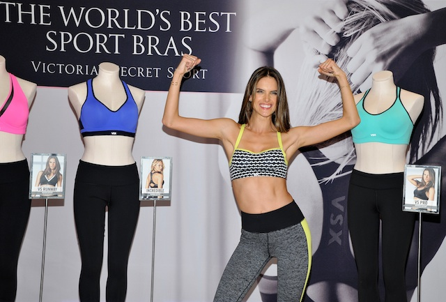 Alessandra Ambrosio Celebrates The Launch Of The World's Best Sport Bras From Victoria's Secret Sport