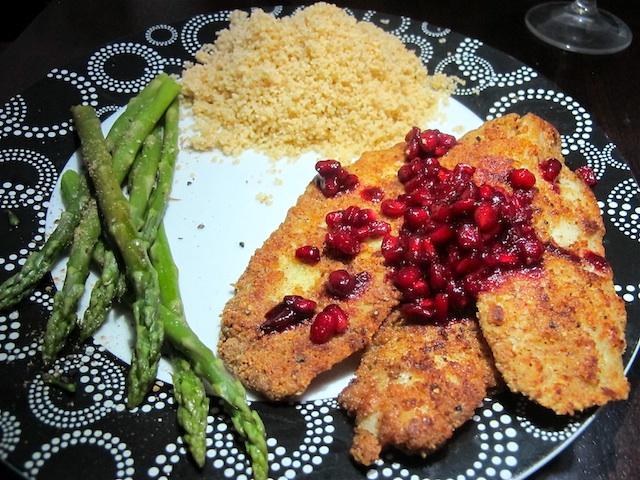 almond-crusted-pomegranate-fish