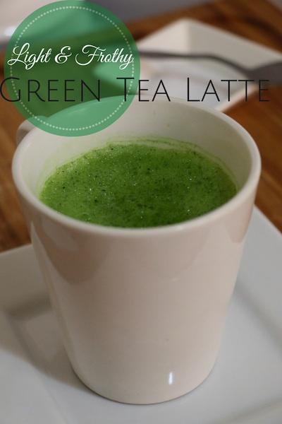 healthy green tea latte