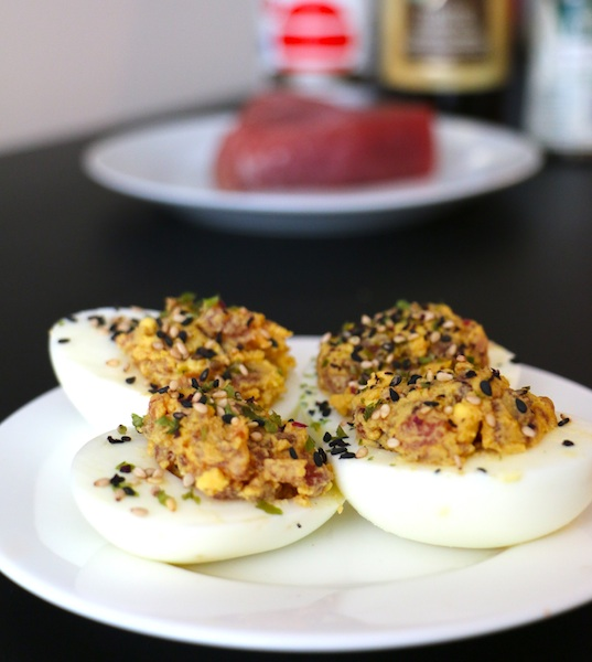 Spicy-Tuna-Deviled-Eggs