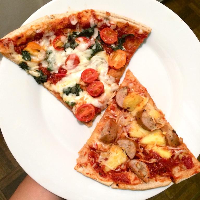 pizza-basil-tomato