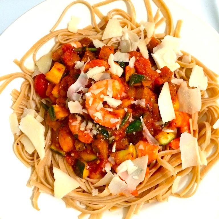marinara-shimp-veggie-pasta