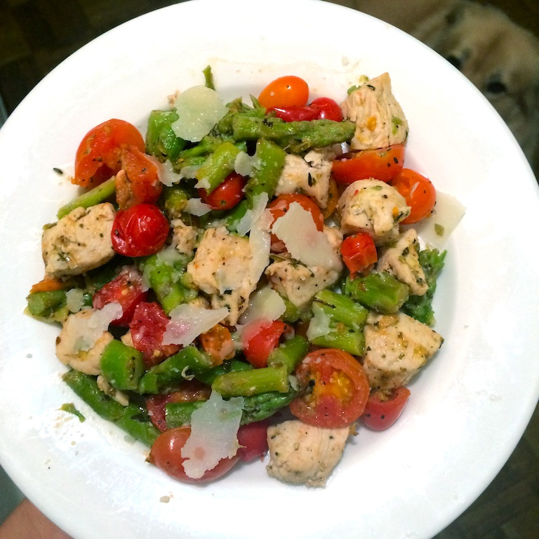 chicken-asparagus-tomatoes