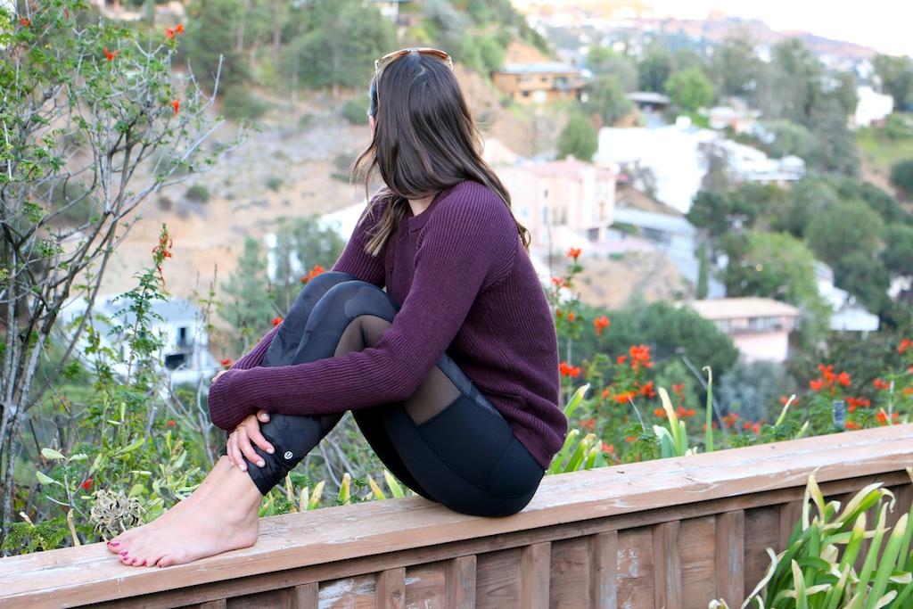 lululemon-yoga-cutout-pants-purple-sweater
