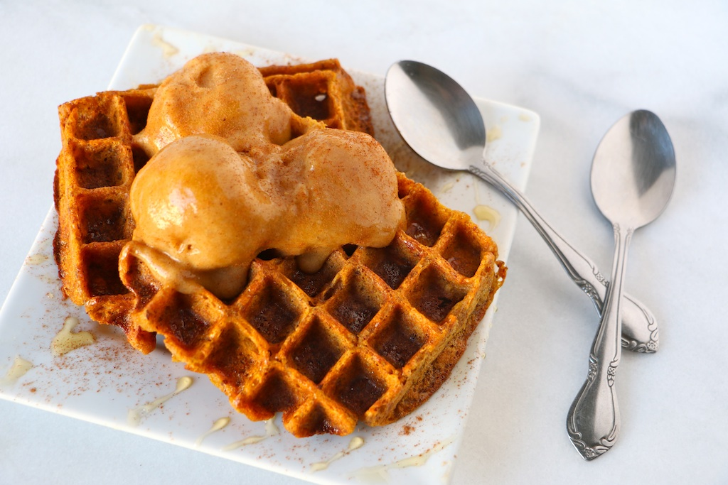 vegan-pumpkin-waffles-pumpkin-ice-cream