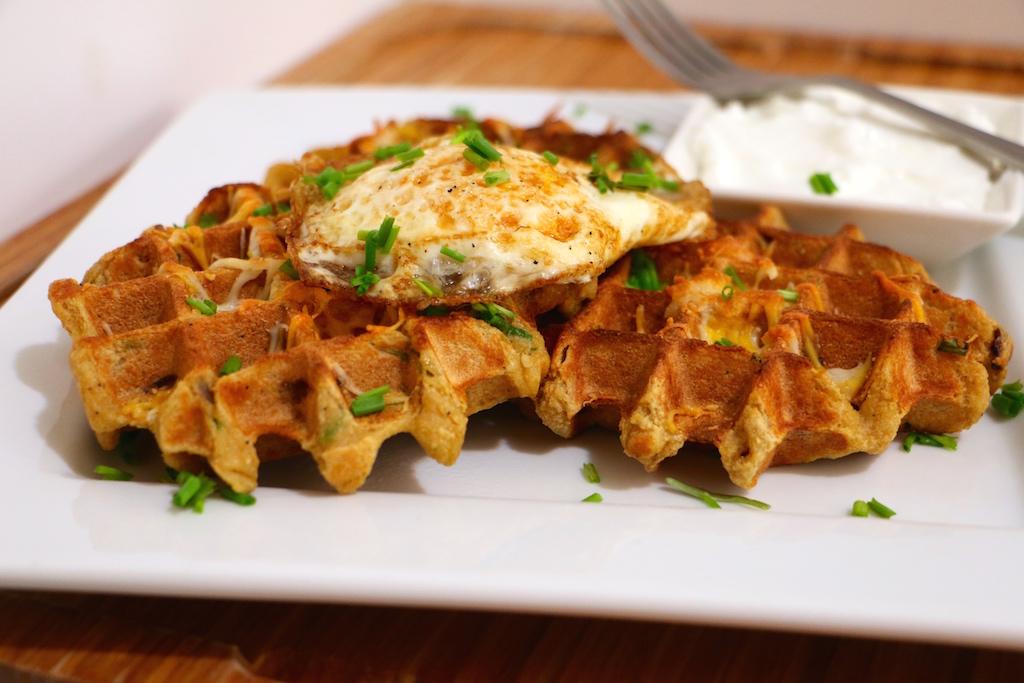 cauliflower mashed potato waffles