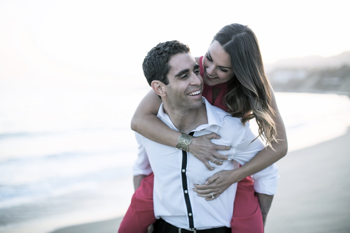 los angeles beach engagement pictures
