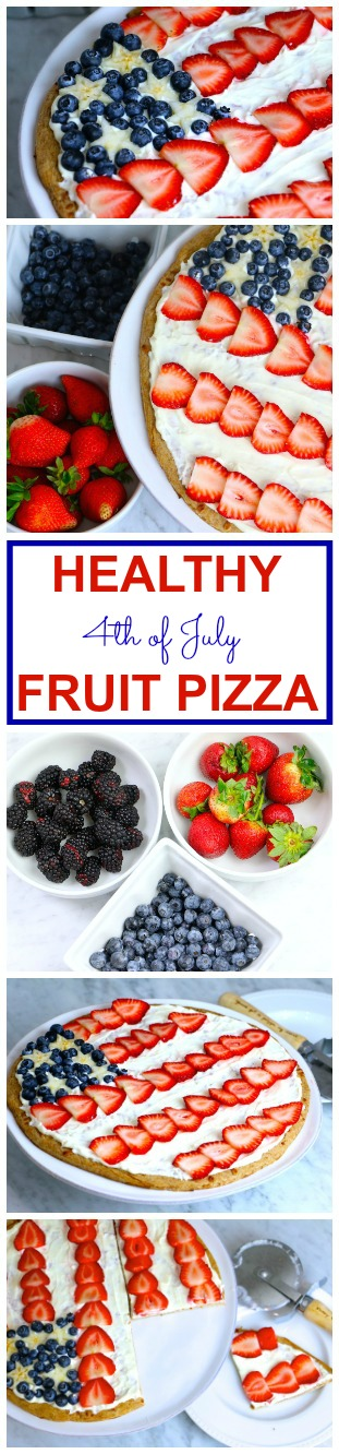 Healthy 4th of July Fruit Pizza