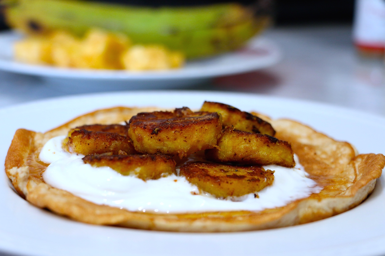 fried-plantains-coconut-crepes