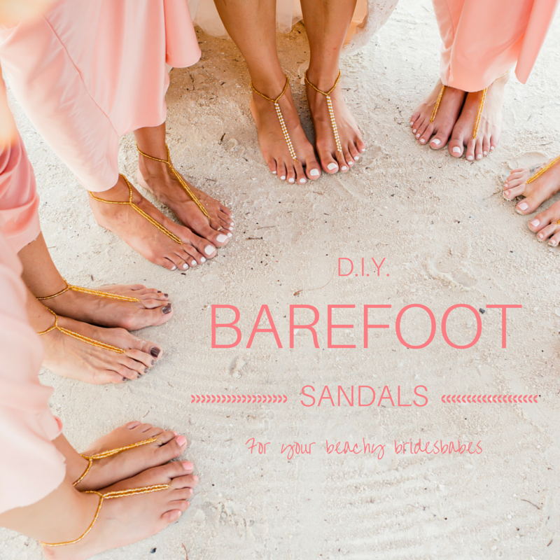 c33f929e68d4 DIY Barefoot Sandals for a Beach Wedding