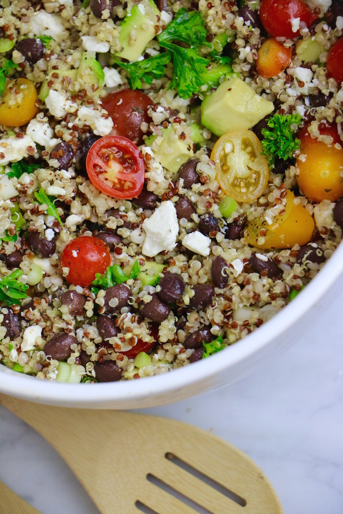 Quinoa Black Bean Feta Salad