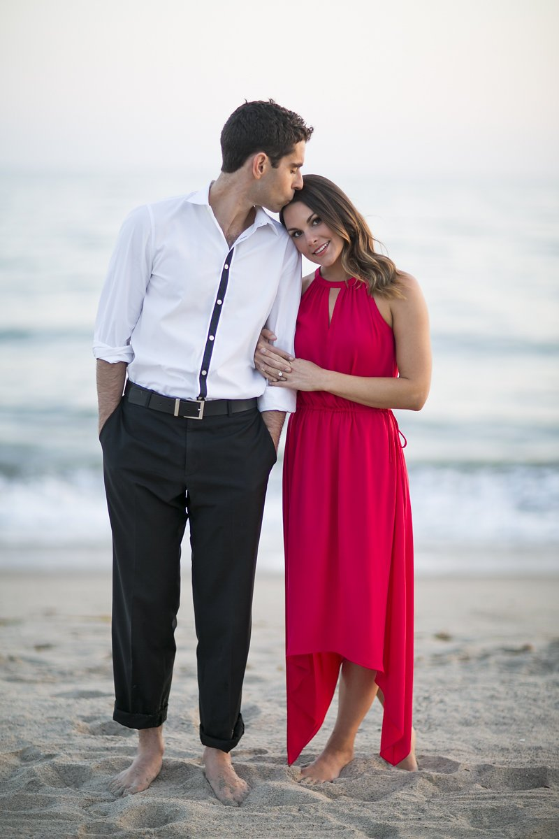 los angeles beach engagement photo