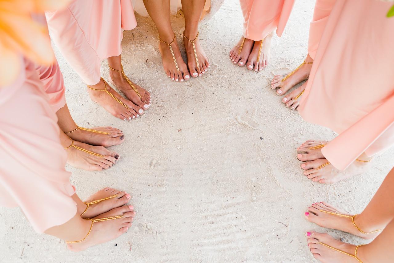 Sandals Wedding for bridesmaids exclusive photo