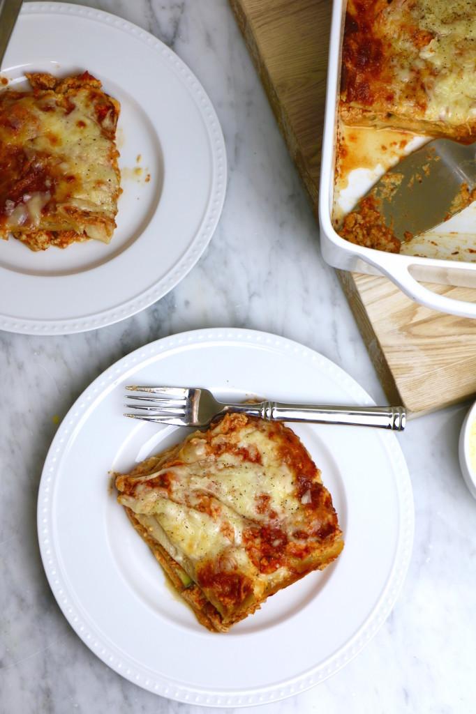 Healthy Pumpkin Turkey Lasagna