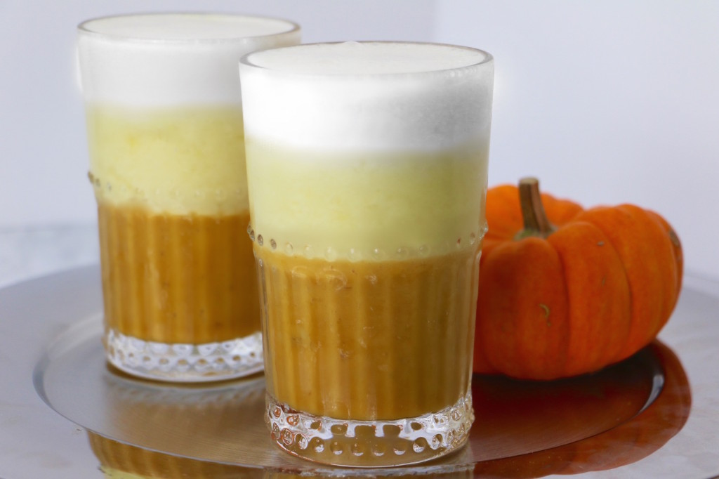 Candy Corn Smoothie - Healthy Halloween Drinks