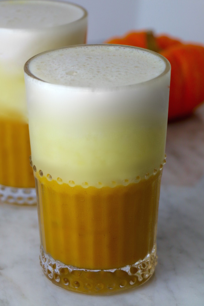 Candy Corn Smoothie - Healthy Halloween Drinks for Kids