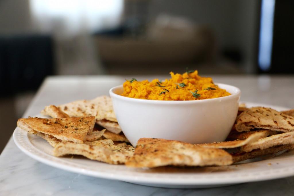Homemade Hummus - Sweet Potato Flavor