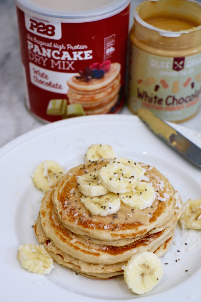 P28 Protein Pancakes with Protein Peanut Butter