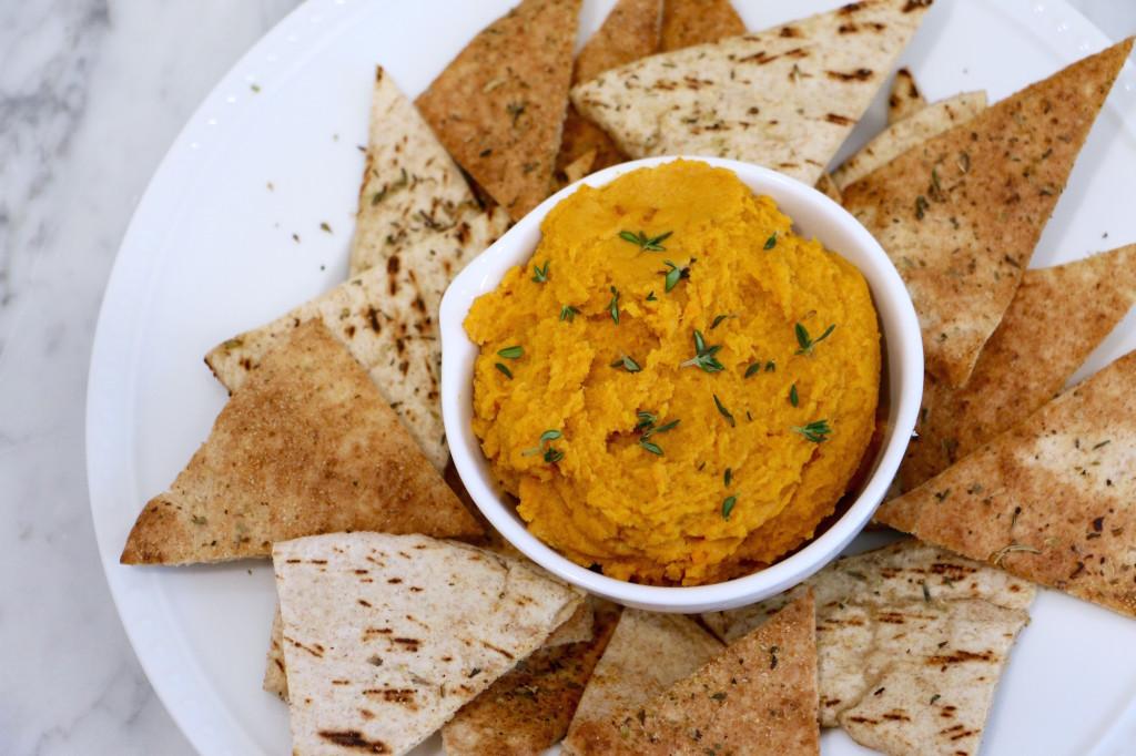 Sweet Potato Hummus - quick, easy, healthy, homemade!