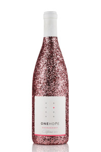 pink-glitter-chardonay-bottle-one-hope