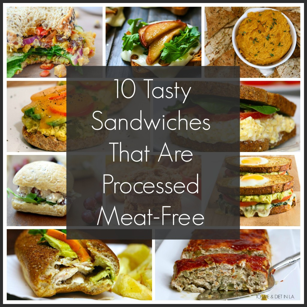 10 Tasty Sandwiches That Are Processed Meat Free