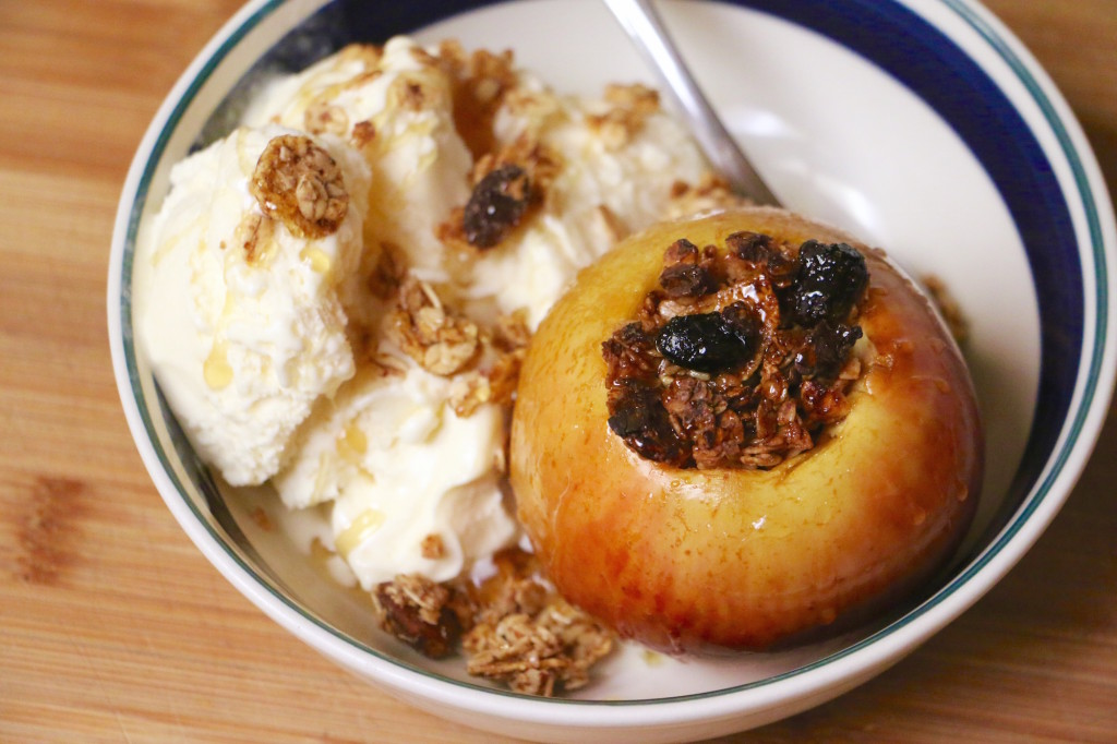 Healthy Baked Apples with Granola and Honey Recipe