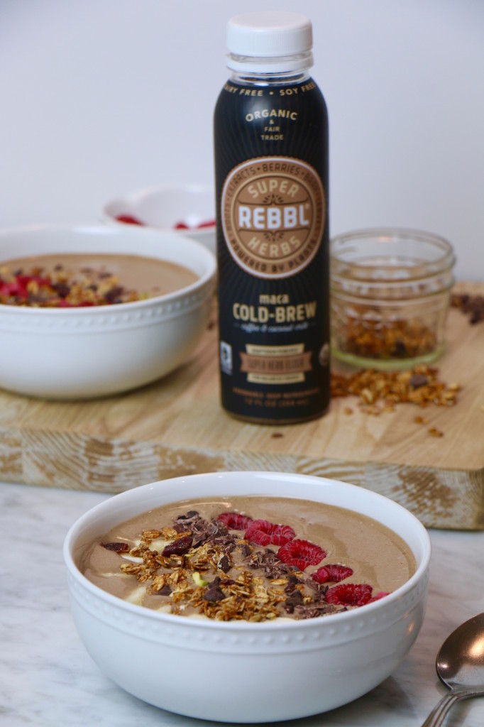 Maca Berry Bowl with Rebbl Cold Brew