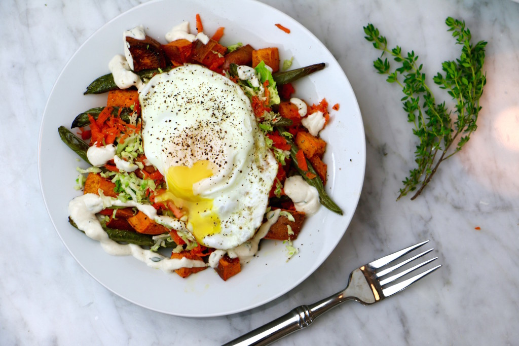Buckwheat Breakfast Bowl with Poached Egg