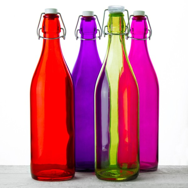 Colorful Glass Bottles Swing-Top