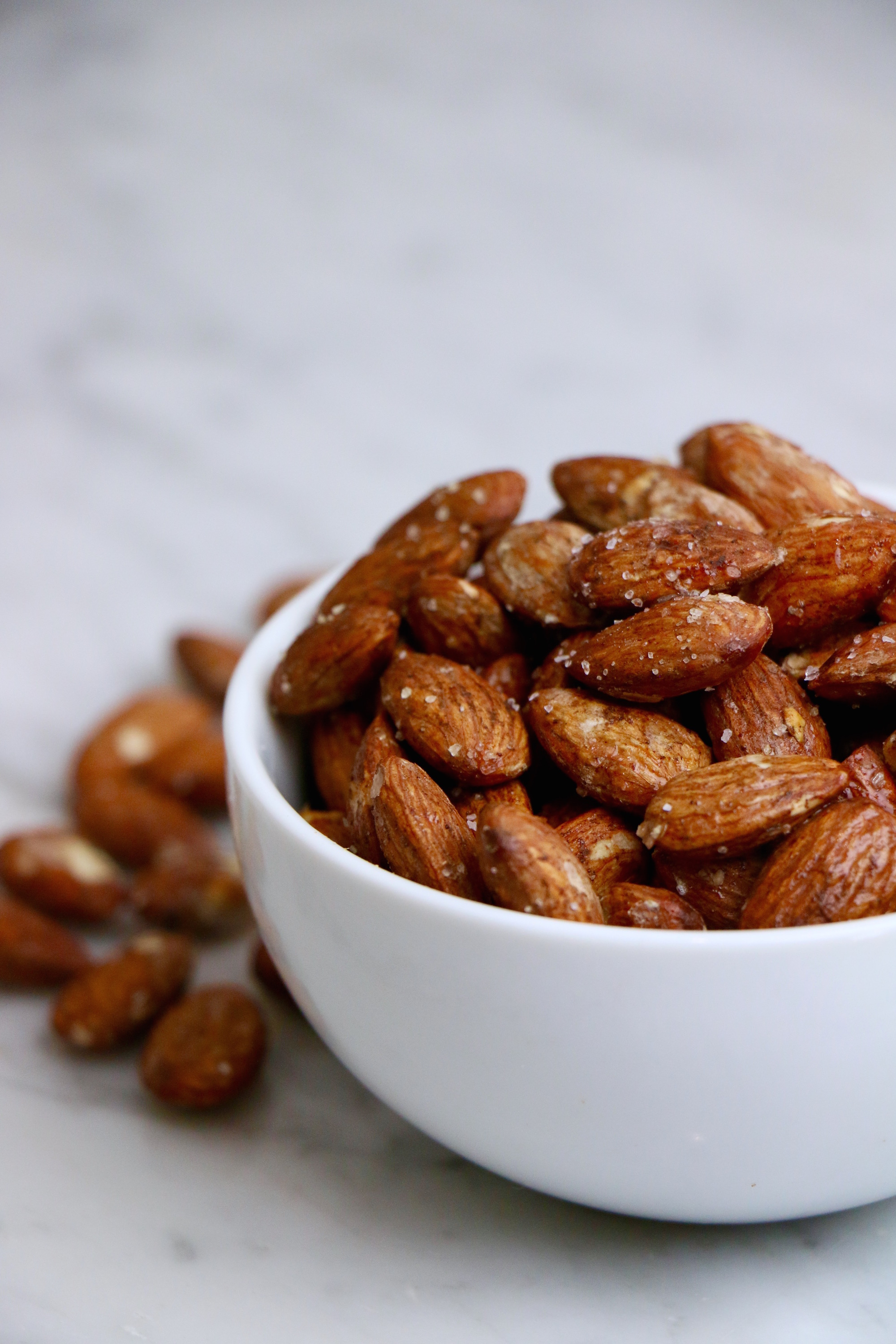 Homemade Roasted Almonds - Sweet + Salty