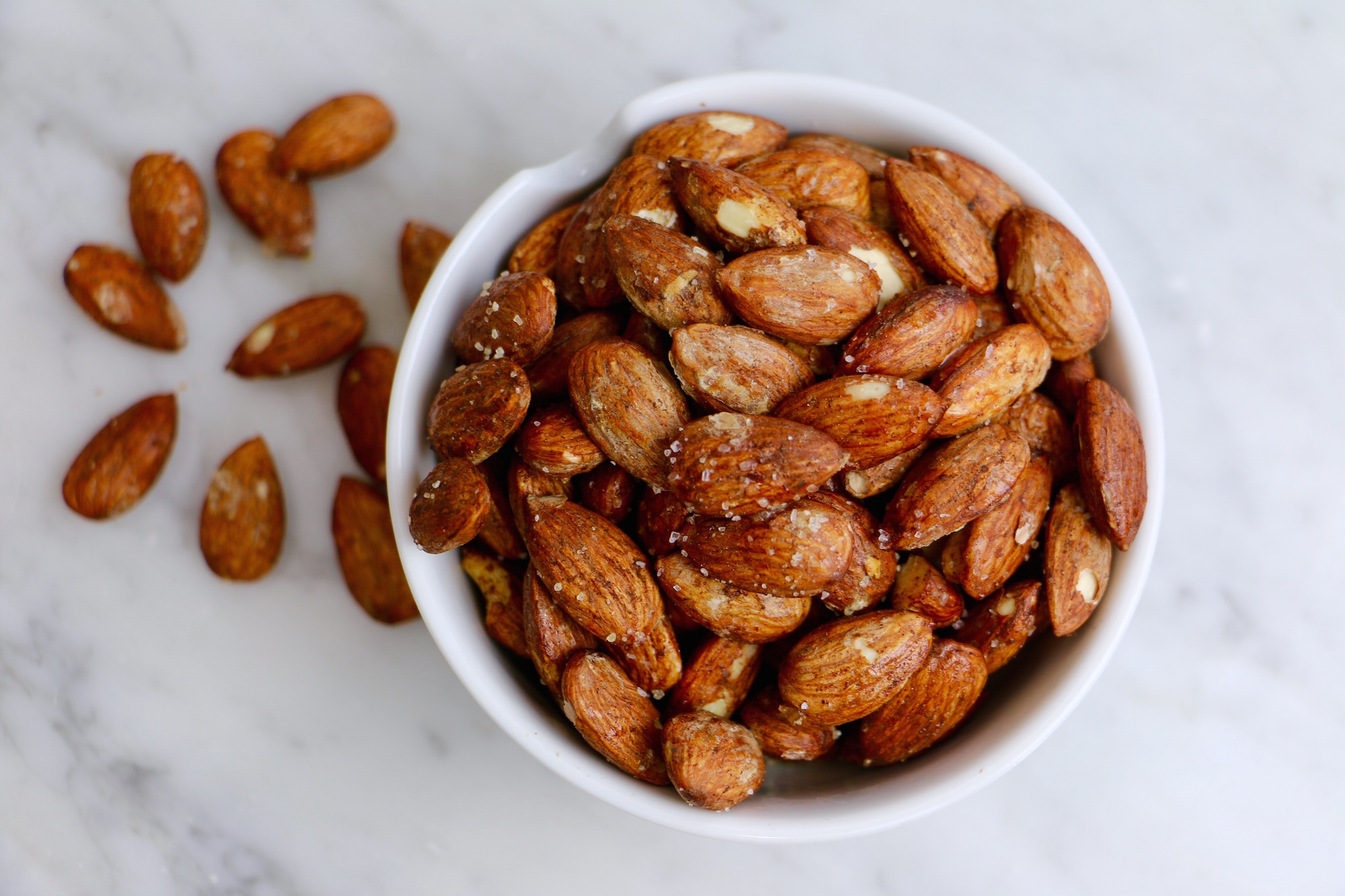 Homemade Roasted Almonds - sea salt + stevia