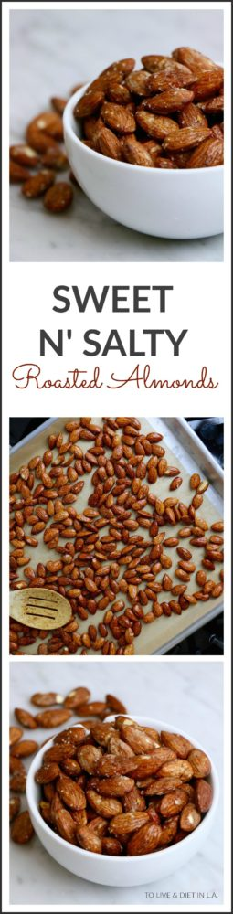 Sweet N Salty Roasted Almonds More Healthy Holiday