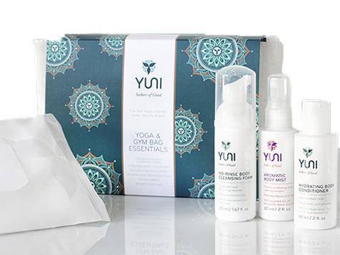 Yuni Beauty Yoga and Gym Bag Essentials