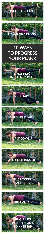10 Ways to Progress Your Plank