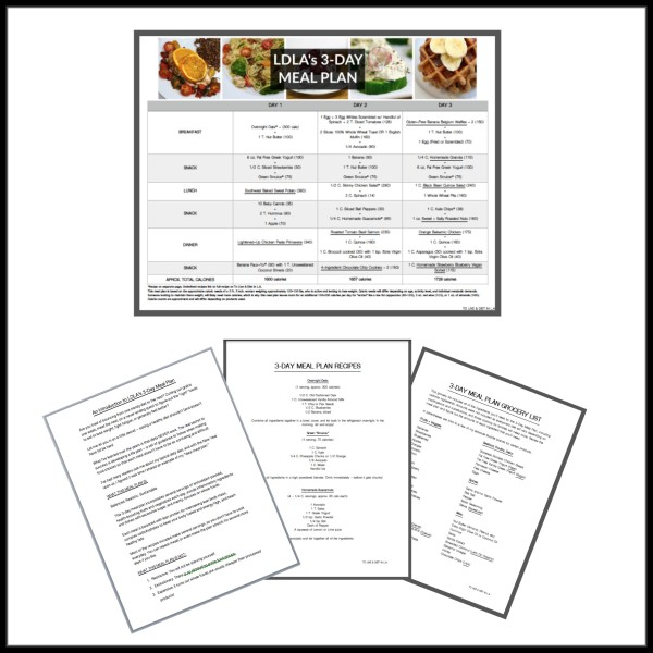 3 day meal plan graphic