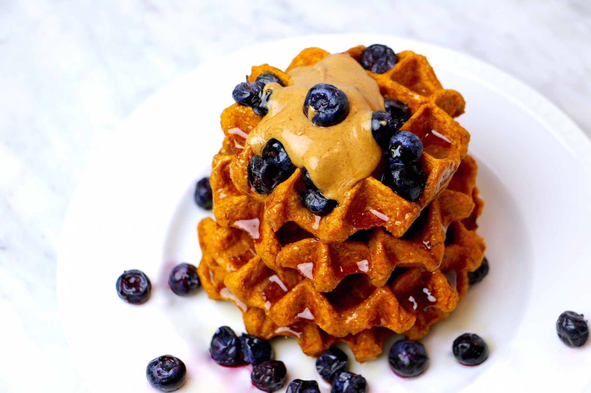 Healthy Sweet Potato Waffles - Whitney E. RD