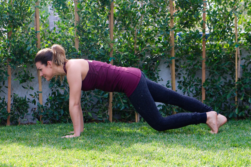 Plank Knee Taps