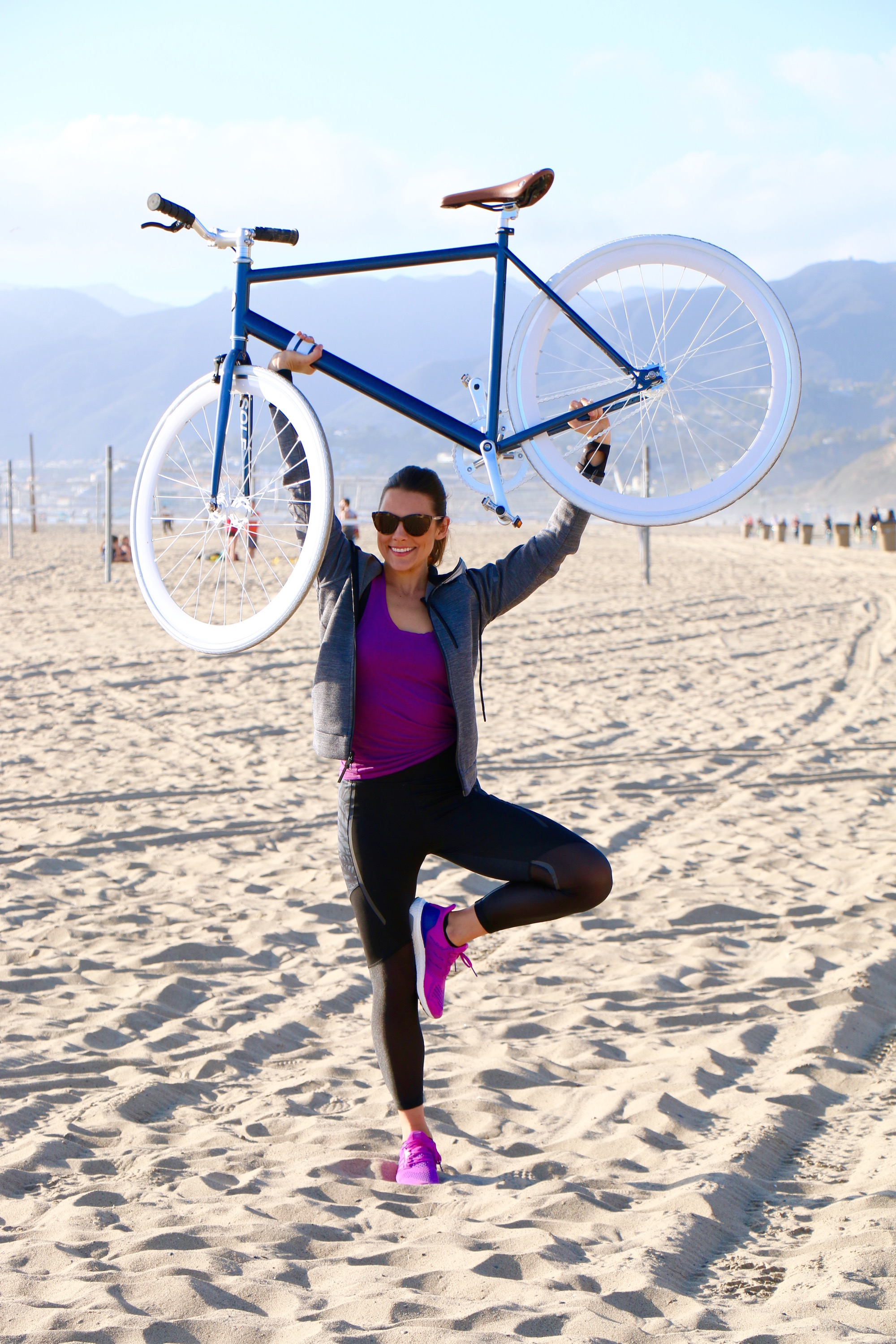Bike Riding on Santa Monica Beach Boardwalk