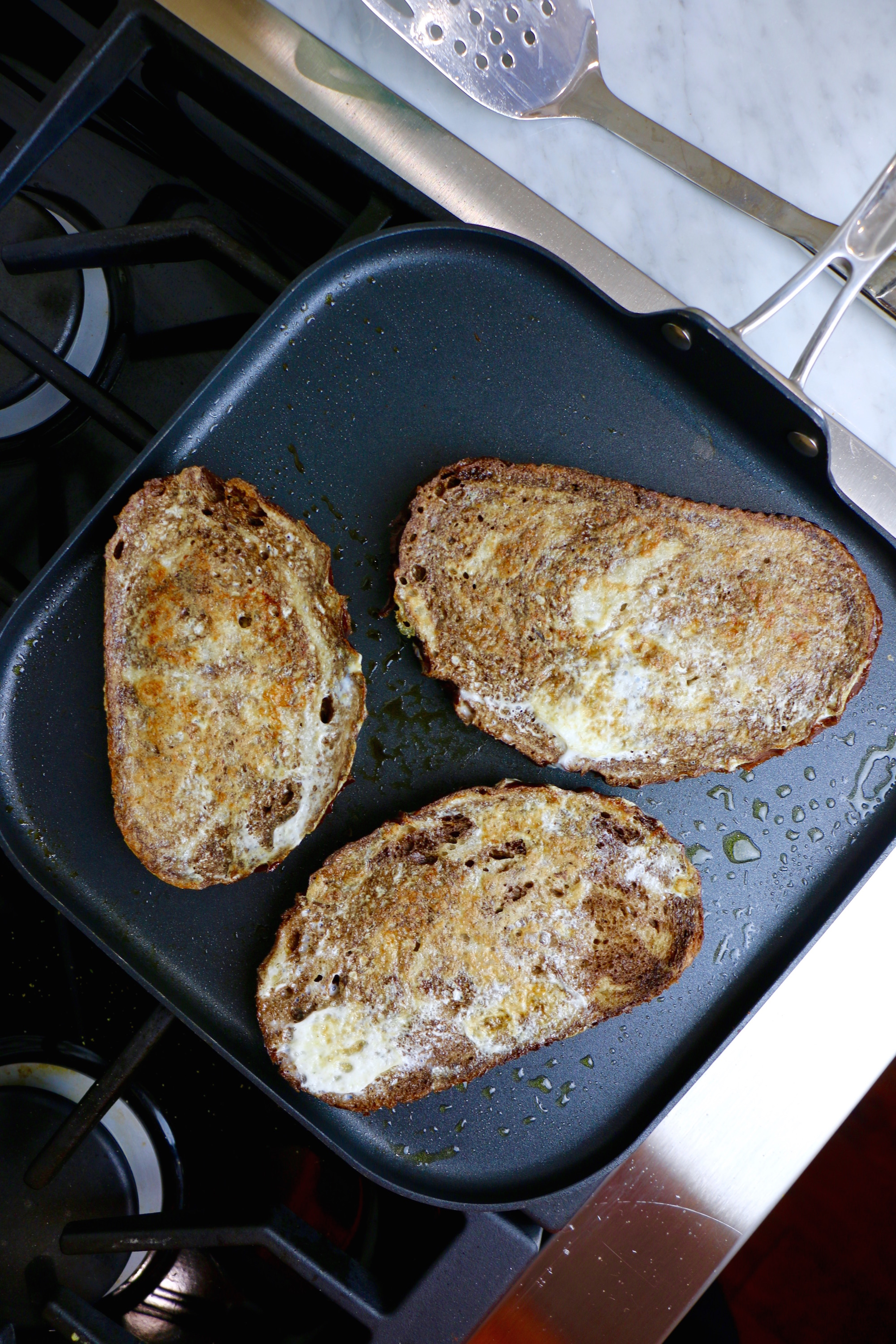 Savory French Toast made with Rye Bread