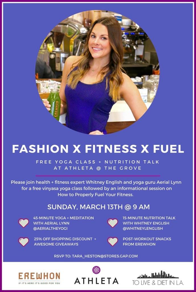 Yoga + Nutrition with Athleta