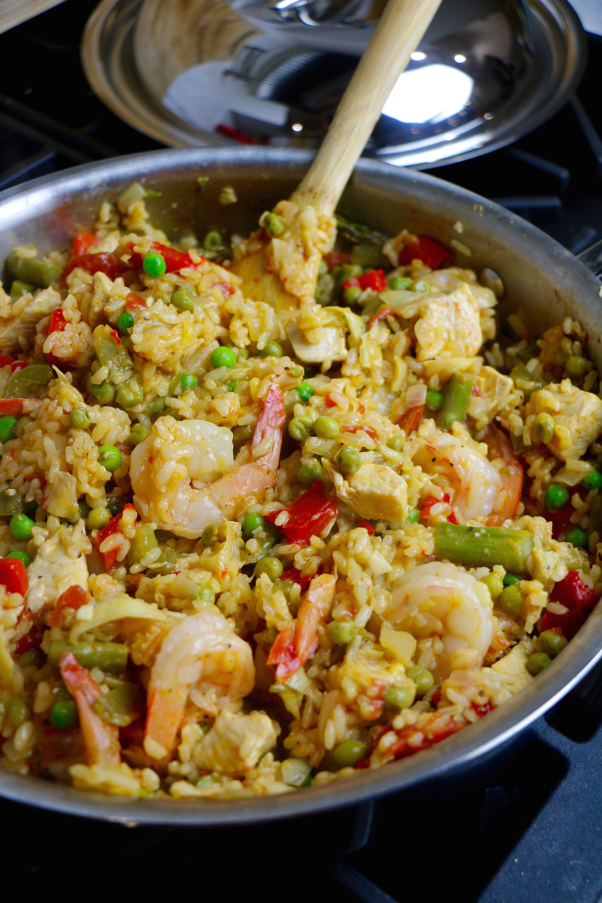 Mixed Seafood and Chicken Paella