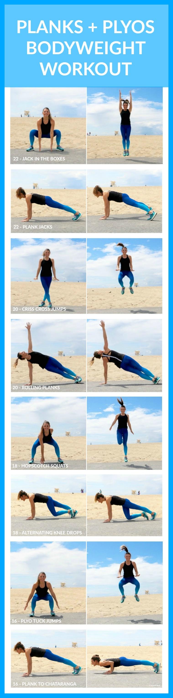 Plank + Plyo Bodyweight Workout