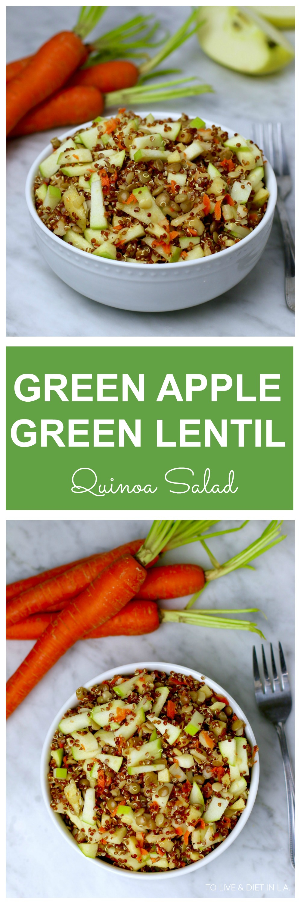 Green Apple Green Lentil Quinoa Salad