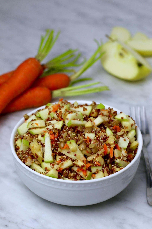 Green Lentil Green Apple Quinoa Salad