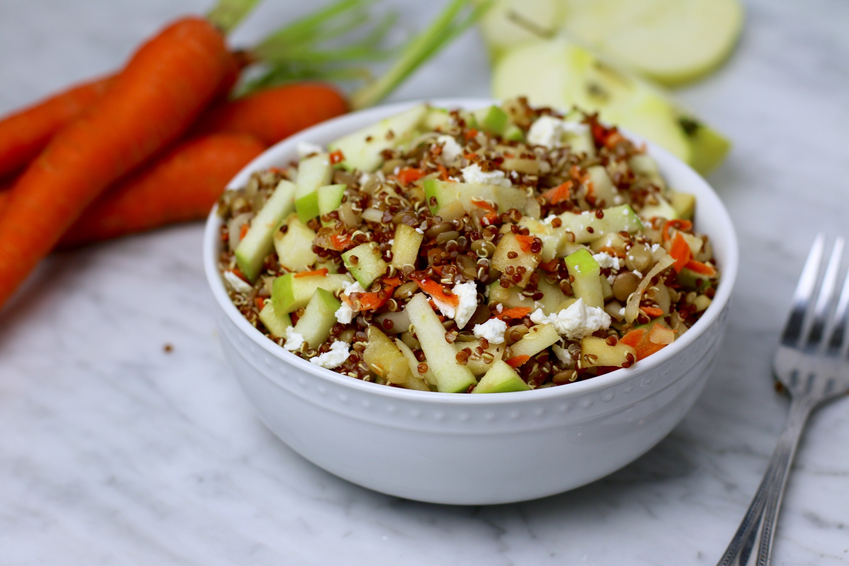 Vegetarian Green Lentil Green Apple Salad