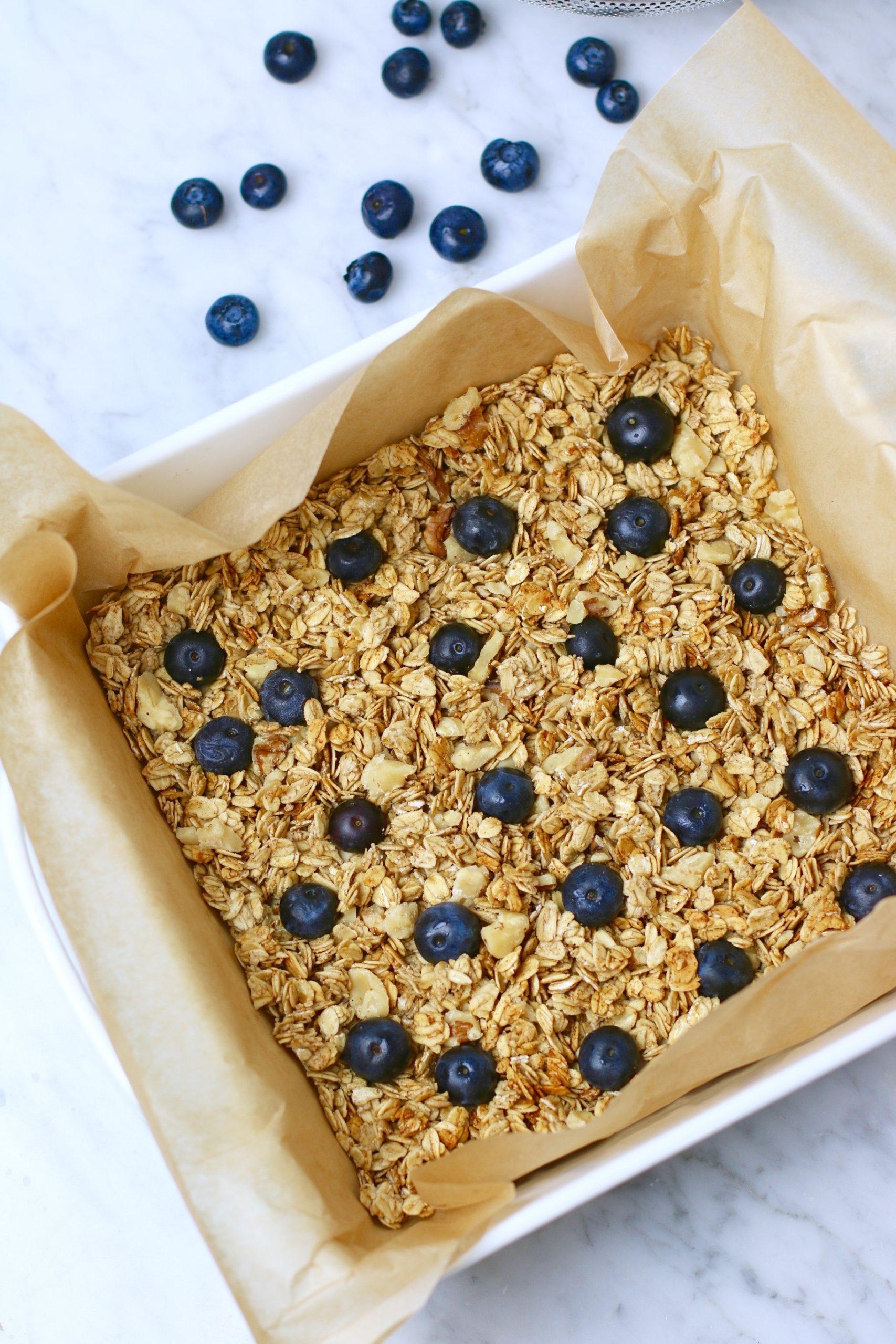 blueberry nice cream bars